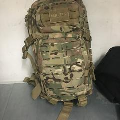 Backpack army print, as reported by The Tire Station Hotel using iLost
