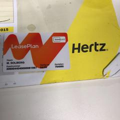 Tankpas, as reported by Hertz using iLost