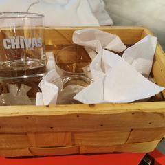 1 box of 6 Small Chivas Glasses, as reported by Meininger Heidelberg Central Station using iLost