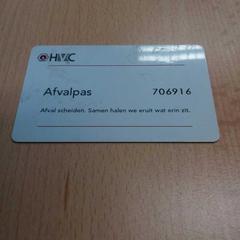 Afvalpas HVC, zoals gemeld door Arriva Gorinchem / Dordrecht met iLost