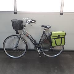 Damesfiets Gazelle Davos grijs met gele fietstas, zoals gemeld door Gemeente Heusden met iLost
