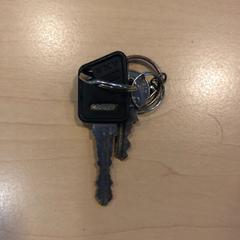Fietssleutel en klein sleuteltje, zoals gemeld door Jaarbeurs met iLost