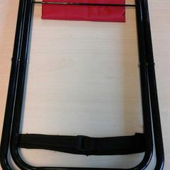 Klapstoeltje rood zwart, as reported by Connexxion Zeeland using iLost