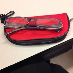 Etui with glasses/ etui met bril