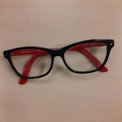 Bril met rood/zwart montuur, zoals gemeld door Alrijne Leiderdorp met iLost