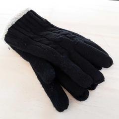 Gevoerde zwarte gebreide handschoenen, zoals gemeld door EBS Tramplein met iLost