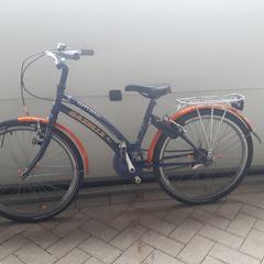 kinderfiets Gazelle oranje/blauw, zoals gemeld door Gemeente Heusden met iLost