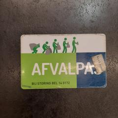 Afvalpas, as reported by Rotterdam The Hague Airport using iLost