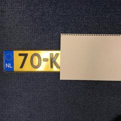 Nummerplaat, zoals gemeld door Gemeente Dongen met iLost