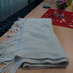 Sjaal wol wit met franje, zoals gemeld door Arriva Gorinchem / Dordrecht met iLost