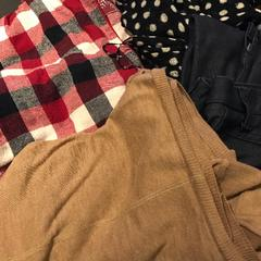 Broek, sjaal, blouse & trui