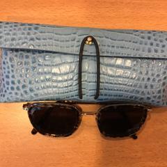 Blauw etui met zonnebril, as reported by Gemeente Amsterdam using iLost
