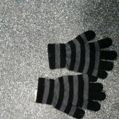 Streepjes handschoenen, zoals gemeld door Connexxion Hoekse Waard / Goeree Overflakkee met iLost
