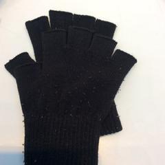 Vingerloze zwarte handschoenen, black gloves