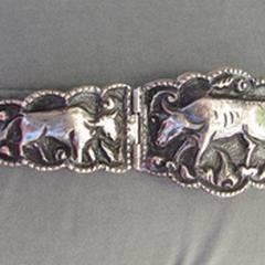 zilveren schakel armband met dier afbeeldingen