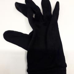Rechter handschoen, zwart, van stof, zoals gemeld door Bibliotheek Utrecht met iLost