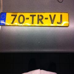 Nummerbord auto