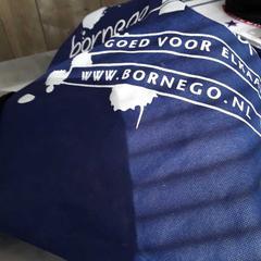 Rugtas blauw, zoals gemeld door Arriva Friesland / Groningen met iLost