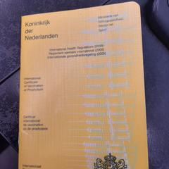 Vaccinatiebewijs, som rapportert av Rotterdam The Hague Airport ved bruk av iLost