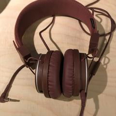 Urbanears brown headphones, as reported by The Tire Station Hotel using iLost