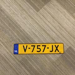 Nummerbord, zoals gemeld door Gemeente Alkmaar met iLost