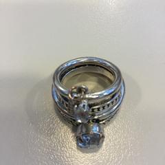 2 zilveren ringen met steentje, zoals gemeld door Reinier de Graaf, Gasthuis met iLost