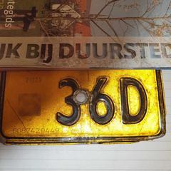 Nummerbord bromfiets., zoals gemeld door Gemeente Wijk bij Duurstede met iLost