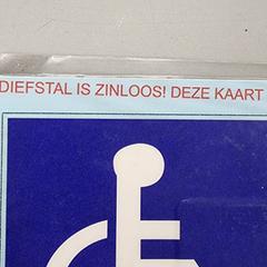 Invalide Parkeerkaart, iLost를 사용하여 RAI Amsterdam에 보고됨