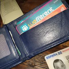 Portemonnee (wallet) Alberto (Eespagna), gerapporteerd met iLost