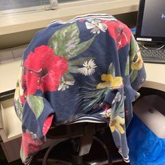 Vestje blauw met bloemen, as reported by Pathé Schiedam using iLost