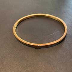 gouden Armband met L, zoals gemeld door Conscious Hotel Westerpark met iLost