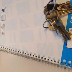 Schrift en sleutels, zoals gemeld door Vrije Universiteit Amsterdam met iLost