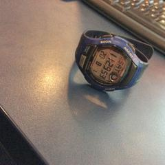 Casio Hand Watch (Blue), as reported by MEININGER Hotel Munich Olympiapark using iLost