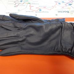 handschoenen leer blauw/grijs