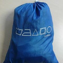Blauwe nylon tas met calvijn sportspullen, as reported by Connexxion Zeeland using iLost