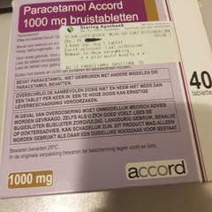 Paracetamol, as reported by Conscious Hotel Vondelpark using iLost