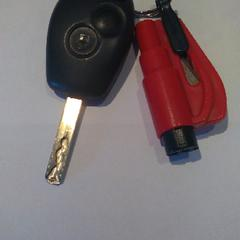 Autosleutel met rood plastic voorwerp, gerapporteerd met iLost